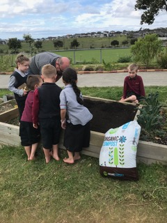 Environmental Team Preparing Planting Beds 2019_2
