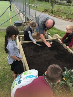 Environmental Team Preparing Planting Beds 2019_4
