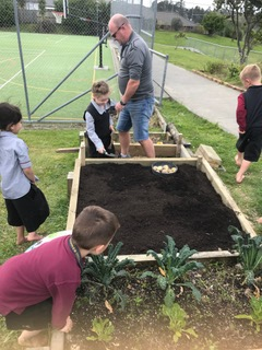 Environmental Team Preparing Planting Beds 2019_5