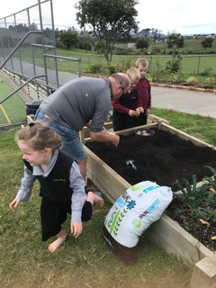 Environmental Team Preparing Planting Beds 2019_8