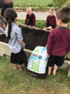 Environmental Team Preparing Planting Beds 2019_3